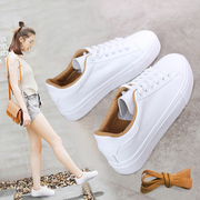 All-match spring 2017 new canvas shoes casual shoes lace white shoes Korean female students thick bottom shoes