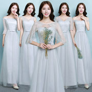 2017 autumn winter new Korean bridesmaid dresses long party dress dress size long sleeved dress sisters
