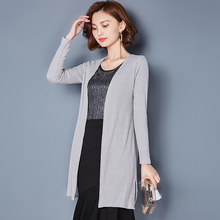 The spring and Autumn Period on the new dress long paragraph sweater long sleeved cardigan female small shawl thin coat sweater loose air conditioning