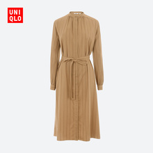 Women's fancy striped dress (long sleeve) 430976 UNIQLO