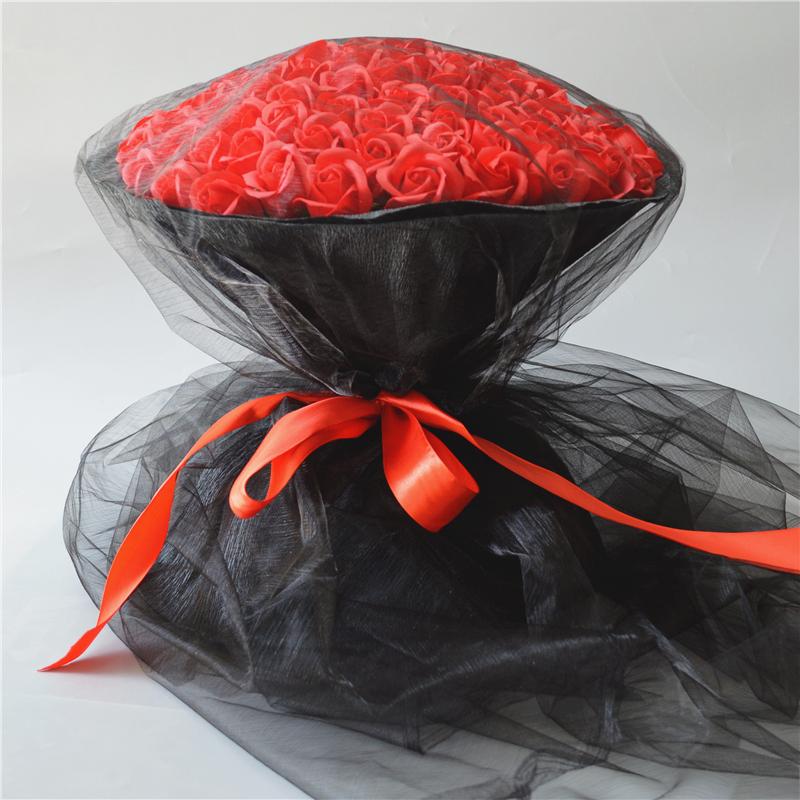 创意99朵玫瑰香皂卡通花束生日礼物女生求婚送女友闺蜜圣诞节礼物