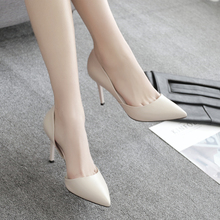 spring new 33 yards pointed high heels shoes white fine with shoes shoes wedding shoes bridesmaid shoes small code cat heels