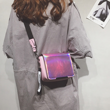 Little fairy bag female 2018 new wave ins super fire Laser bag Korean shoulder bag female wild Messenger bag