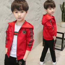 Children's clothing boy spring suit 2018 new children in children's sports and leisure sweater three sets of children clothes
