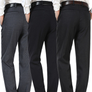 The father of men's trousers in autumn and winter middle-aged male pants trousers loose trousers with a thick old male cashmere pants