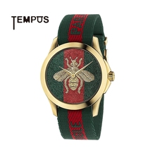 Gucci Gucci genuine watch women 18K bee embroidery weave neutral quartz watch is expected to be delivered in 15 days