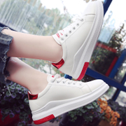 2017 new autumn and winter all-match Korean street shoes with white cashmere based thick white shoes shoes students