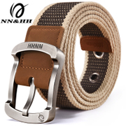 Canvas belt of men and women students youth leisure belt buckle canvas belt male extension simple Han Banchao