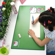 Desk pad pad Taiwan office desk for children oversized table pad pad hard eye lovely green music school
