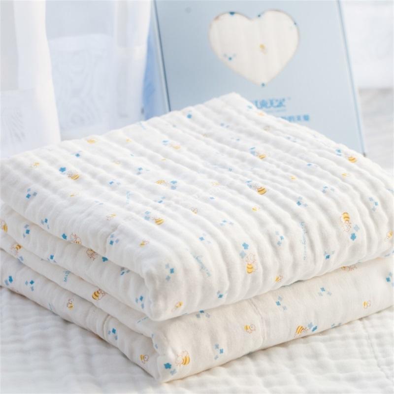 贝爽美尔婴儿浴巾纯棉纱布新生儿童秋冬大盖毯宝宝洗澡吸水加厚