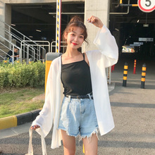 Chiffon shirt 2018 summer new Korean version of the women's loose long-sleeved shirt clothing thin section sun protection clothing jacket cardigan jacket