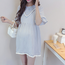 Sunny summer maternity wear loose T-shirts comfortable cotton short sleeved shirt in the long summer, maternity cotton