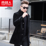 Nanjiren new Sheepskin Fur male Korean cultivating in the long wool coat fur coat lapel