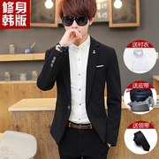 A set of three small autumn suit male students Korean cultivating suit leisure dress wedding groomsman work