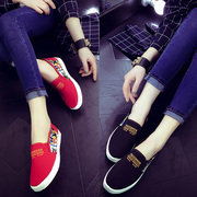 Old Beijing shoes shoes, canvas shoes, flat sole documentary leisure comfortable pedal lazy student shoes shoes
