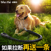 A dog leash dog leash golden medium large dogs dog rope small dog dog collar dog supplies chains