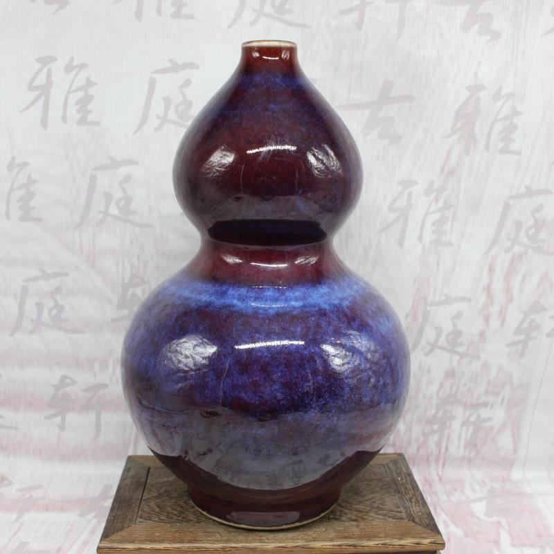 Qing emperor Yongzheng years variable household ornaments porcelain collection antique antique antique ornamental gourd bottle porcelain