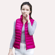 Ms fall/winter 2016 new thin women short collar women's Sleeveless feather down jacket vest vest vest