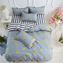 Simple home bed three pieces 1.2m single female dormitory bed linen quilt four sets of double bedroom
