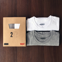 2 men fall thin cotton long sleeved T-shirts Kuanqiu clothes loose T-shirt color white shirt young men