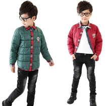 Cotton thin cropped children down wear boys clothes boys warm liner students wear clearance sale price