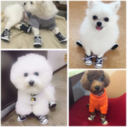 The dog caught off Teddy waterproof shoes shoes a 4 puppies shoes foot set shoes pet Pomeranian bear