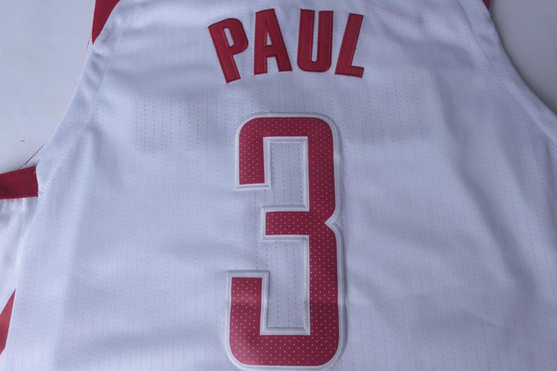 17赛季新款火箭队3号保罗球衣13号詹姆斯哈登刺绣篮球服
