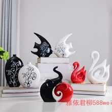 Home decoration bedroom house room decor ceramic Swan small furnishings jewelry creative activities Home Furnishing living room