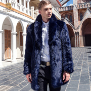 Where to Europe and the United States New Winter men's thick warm fur coat in fashion collar coat 0091