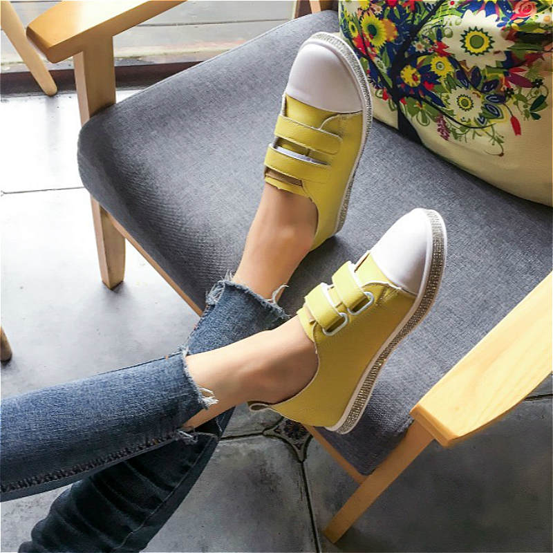 16 Autumn Korean version 13 Junior High school student years old 15 little girl sports girl 14 yellow canvas shoes Tide 12
