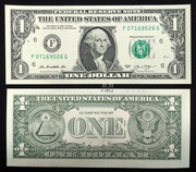 East gate collection of the United States in 2013 version of a dollar bill 1 U.S. dollars of Federal Reserve Certificates for the collection of perfect products