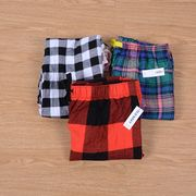 The original 100% cotton woven cloth new autumn ladies pajama pants trousers Plaid Home Furnishing XL