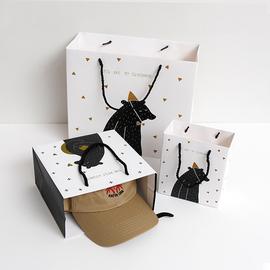 可爱小熊原创设计手提袋 商场购物烘培包装袋创意礼物卡通礼品袋