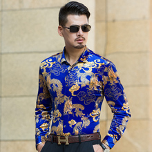 Fashion color jinsirong business casual shirt sleeved with father middle-aged man Xiang Long Shirt DP