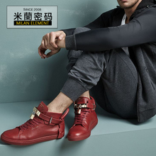 Bus惠 Bus Buscemi 100mm Flat 1007SP14-RED Locking Straps Red casual shoes