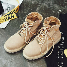 Desert boots leather retro rough with the flat Martin boots 2017 new boots boots boots tide Lovers