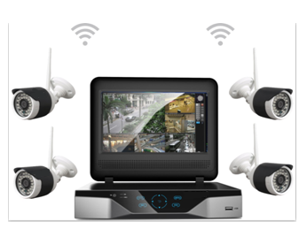 4 960P wireless network, high-definition camera, +1 station, 4 way 1080P, full HD NVR, optional 4G-NVR