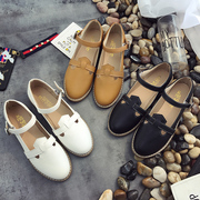 2017 summer new Korean flat sandals female Rome all-match thick students contracted Baotou shoes tide flats