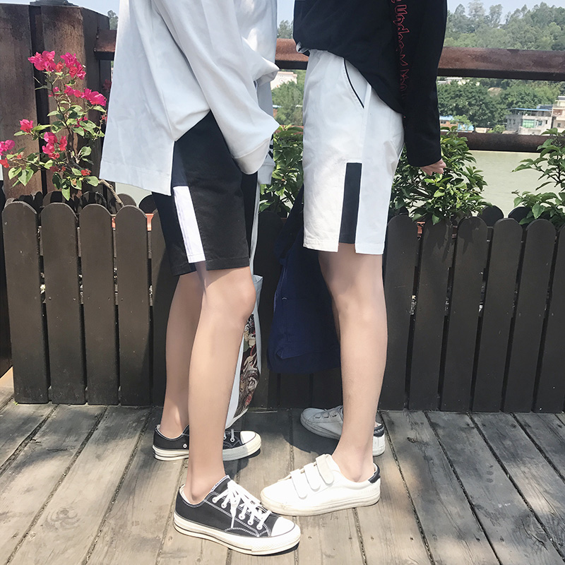 Summer wind new easing young han edition leisure lovers 5 minutes of pants pants trend splicing beach pants hot pants
