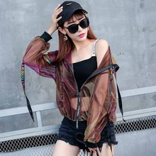 Female 2017 summer new thin section Korean bf wind loose baseball uniform student short paragraph wild coat