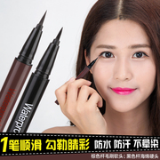 The new soft Eyeliner Pen stereo head hard and fast dry durable waterproof anti sweat Eyeliner Eyeliner