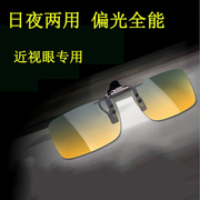 A pair of sunglasses used for driving a man and a man with a pair of polarized lenses on a pair of sunglasses