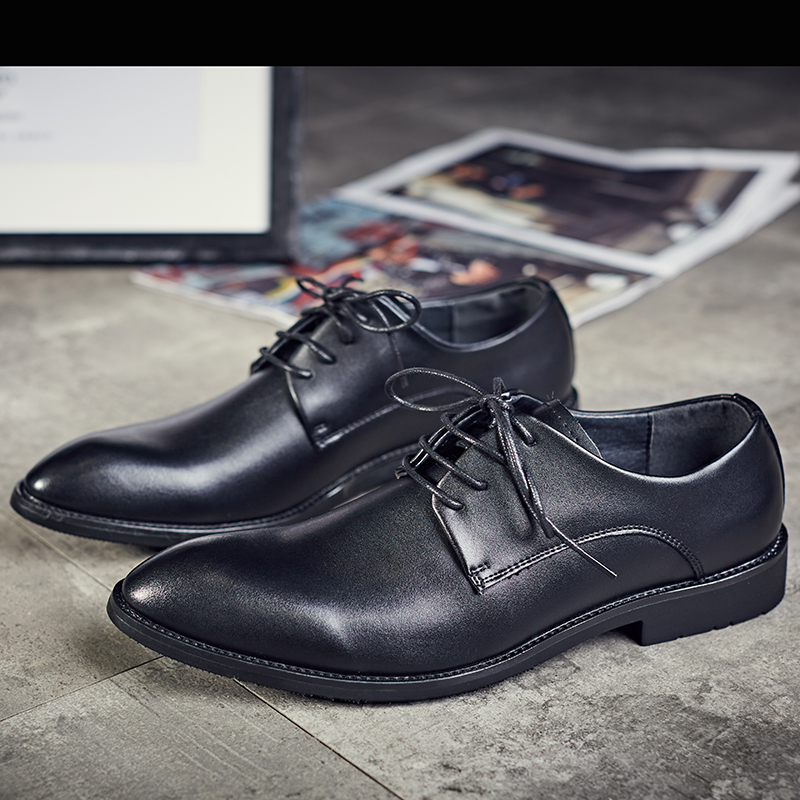 Spring men's business dress shoes England pointed shoes male leather shoes for men shoes Korean wedding shoes
