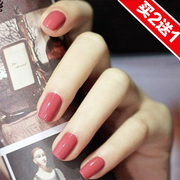 Red bean color nail polish lasting fade free baked Korean Manicure white pumpkin color green red wine can not peel