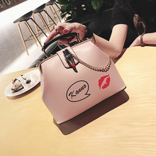 Ladies bag 2017 new tide Monogrammed shell bag handbag all-match Korean single shoulder bag bag