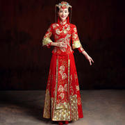 Baby Show wo dress bride wedding gown Chinese dress 2017 new show wo women Toast Dragon and Phoenix coat