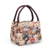 ladies small cloth ladies handbag canvas bag mini bear bag hand holding large capacity lunch box bag lunch bag