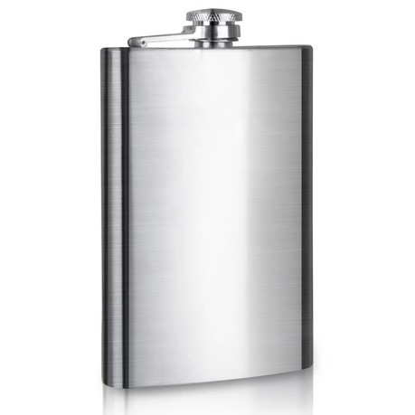 8 oz Stainless steel flagon flagon portable sander (direct selling) support laser engraving
