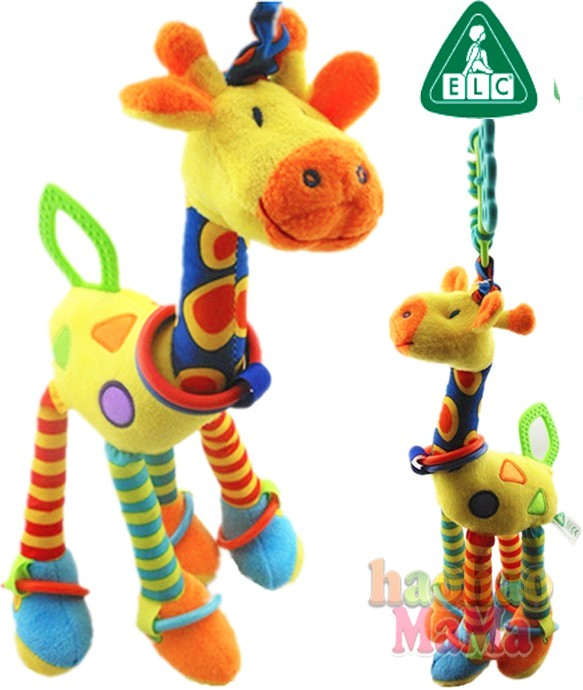The British ELC Giraffe New infant special offer Infant Crib Bed Teether plush toy rattle Pendant