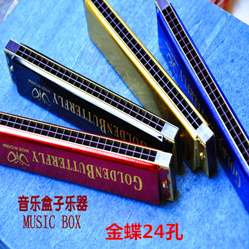 Kingdee brand the 24 hole harmonica harmonica beginner learning Bruce C small Harmonica Factory Direct